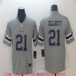 Dallas Cowboys Ezekiel Elliott Jersey Gray